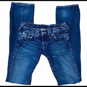 True Religion 25 Blue Straight leg jeans low-rise